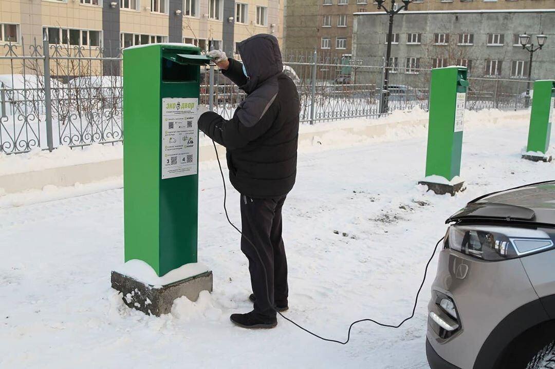 В Норильске открыта первая экопарковка со станциями для подогрева машин